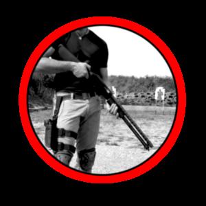 Corso di tiro tattico difensivo con shotgun cal. 12, posizione di pattugliamento